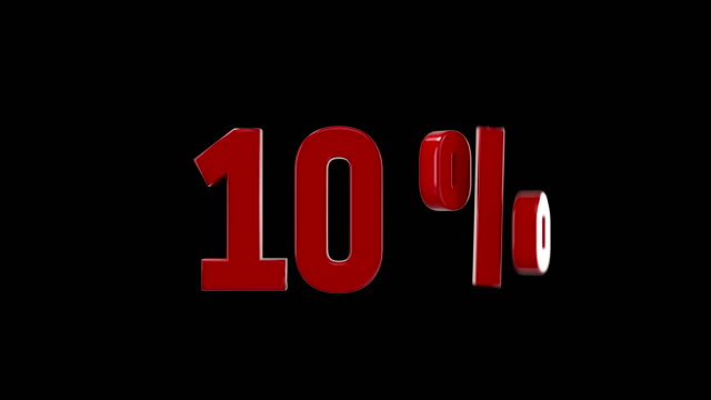 10% percent discount animation - number 10 stock videos & royalty-free footage