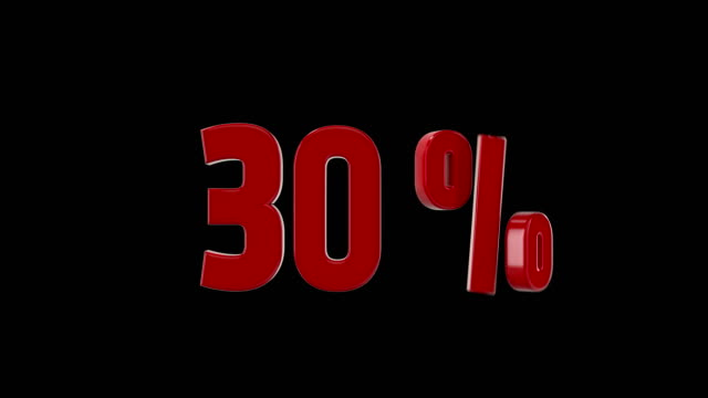 30% percent discount animation