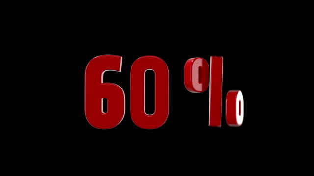 60% percent discount animation - 3d animation stock videos & royalty-free footage