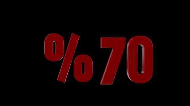 %70 percent discount icon animation