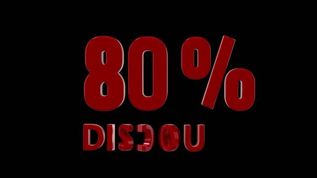 80 % Rabatt Symbol Animation, amerikanischen Stil