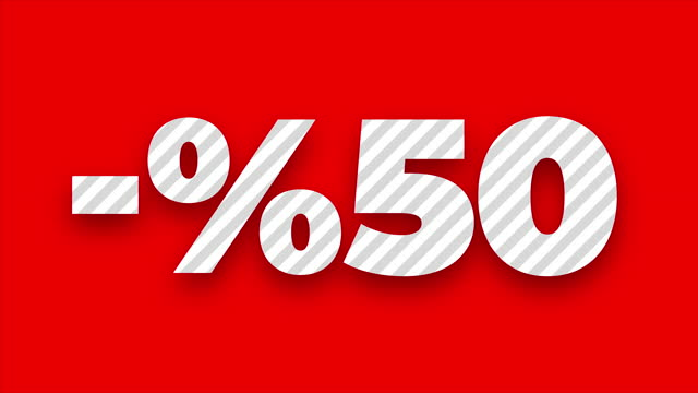 50 percent for discount or promotion - percentage sign stock videos & royalty-free footage