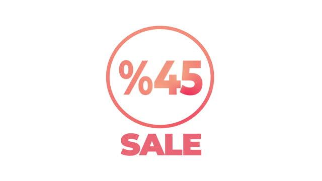 vídeos de stock e filmes b-roll de 45 percent for discount or promotion - viciado em compras