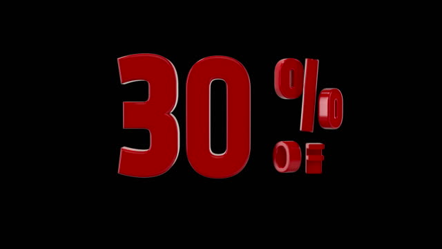 %30 percent off icon animation - black friday stock videos & royalty-free footage