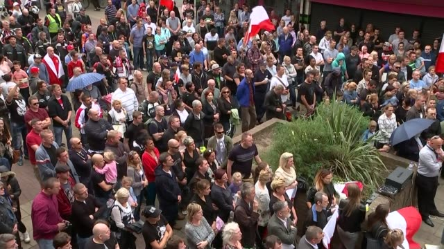 41 percent rise in hate crime in month after brexit vote t03091628 / harlow high angle shot crowd at vigil in town centre man crying - 2016 european union referendum stock videos & royalty-free footage