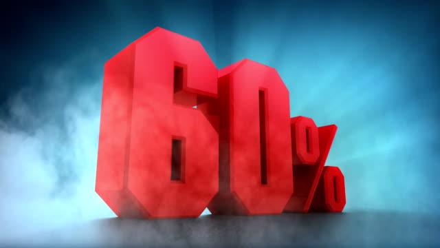 パーセント animation.50% 、60% の 70% 、80% 、90% 100% - パーセント記号点の映像素材/bロール