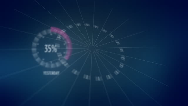 percentage donut chart - pie chart stock videos & royalty-free footage