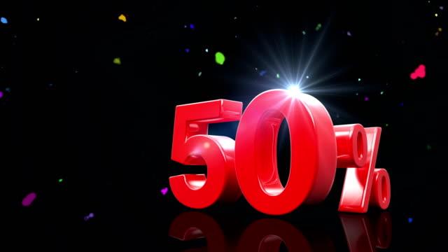 50 prozent - spruchband stock-videos und b-roll-filmmaterial