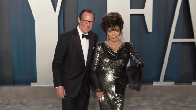 percy gibson and joan collins at vanity fair oscar party at wallis annenberg center for the performing arts on february 09, 2020 in beverly hills,... - vanity fair stock videos & royalty-free footage