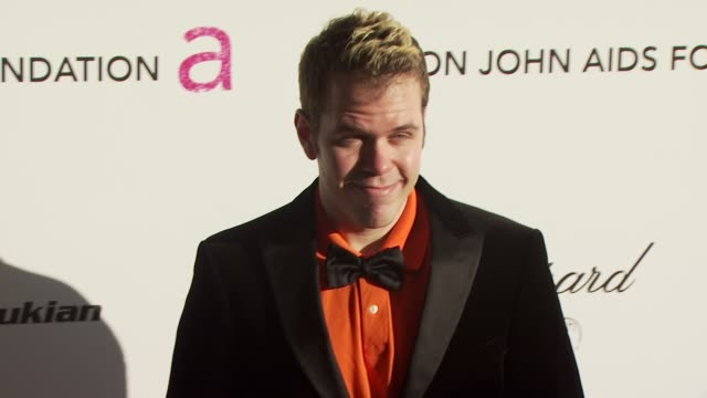 perez hilton at the 18th annual elton john aids foundation oscar party at west hollywood ca. - oscar party stock videos & royalty-free footage
