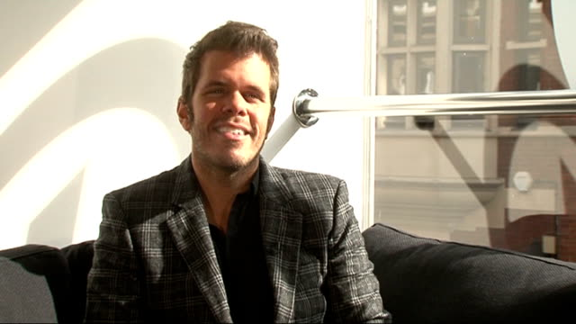 London INT Perez Hilton interview SOT On 'One Night in London' charity party to support the BRIT Trust / Cher Lloyd / British invasion in America not...