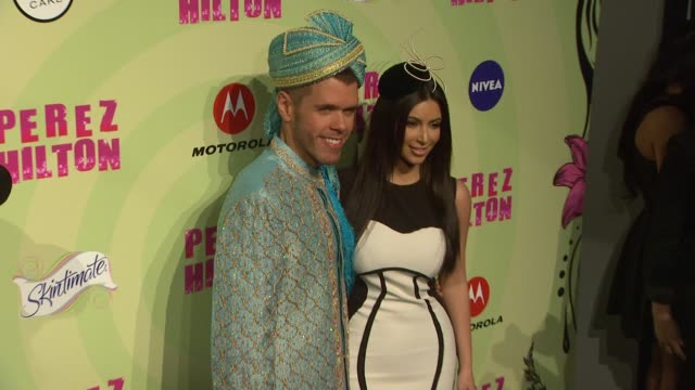 perez hilton's mad hatter tea party birthday celebration los angeles ca united states 3/24/12 - mad hatter stock videos and b-roll footage