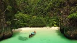 Perfect Beach, Ko Phi Phi Le, Krabi, Thailand by Drone
