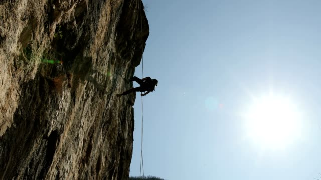 perfect day for extreme sports - climbing equipment stock videos & royalty-free footage
