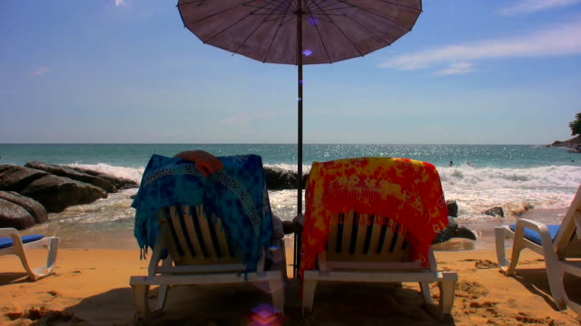 perfect holiday - deck chair stock videos & royalty-free footage
