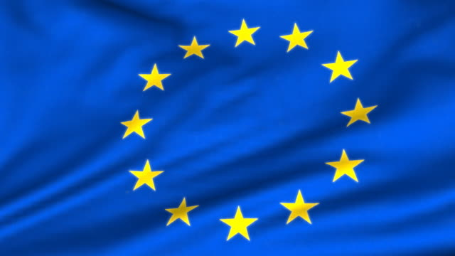 perfect loop: eu flag - european union stock videos and b-roll footage