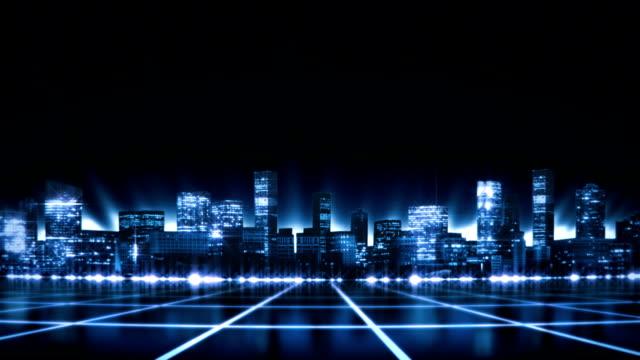 Perfekte loop, untere Hälfte animation eines digitalen Stadt HD