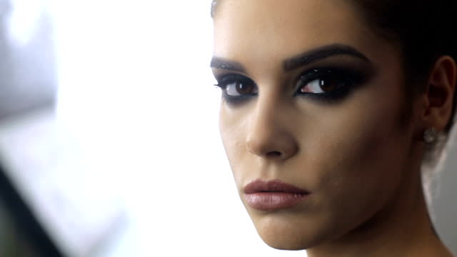 perfect make-up - femme fatale stock videos and b-roll footage