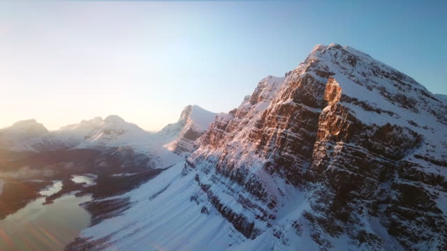 perfect snow mountain - alberta stock videos & royalty-free footage