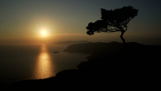 perfect sunset view - rhodes dodecanese islands stock videos & royalty-free footage