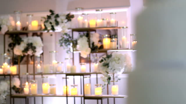 perfect wedding arrangement - tablecloth stock videos & royalty-free footage