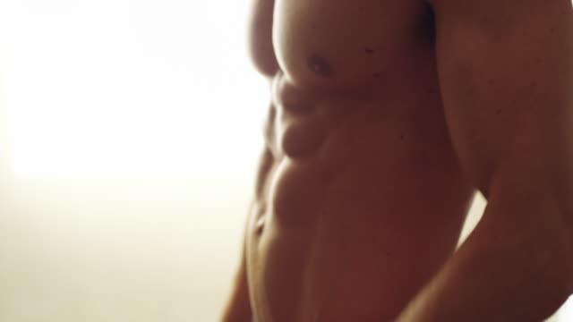 vídeos y material grabado en eventos de stock de perfectamente esculpido en el núcleo - torso