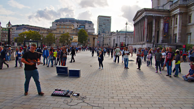 performance at trafalgar square. london - downtown stock videos & royalty-free footage