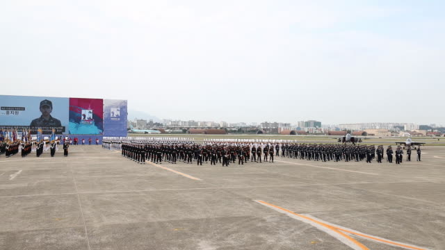 performance during the media day for the 71th anniversary of armed forces day at daegu air base in daegu south korea on friday sept 27 2019 - daegu stock videos and b-roll footage
