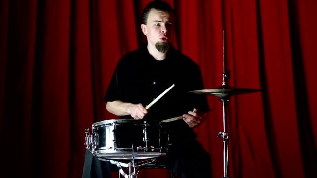 performance of vintage styled drum player - solo performance stock videos and b-roll footage