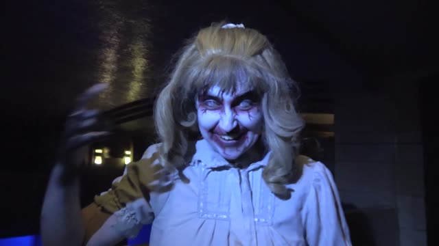 "Performer at the Queen Mary's annual Halloween haunt ""Dark Harbor"" Long Beach California October 26 2016 The immersive event includes six haunted..."