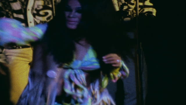 zo performer on stage dancing in club / da nang vietnam - vietnamkrieg stock-videos und b-roll-filmmaterial