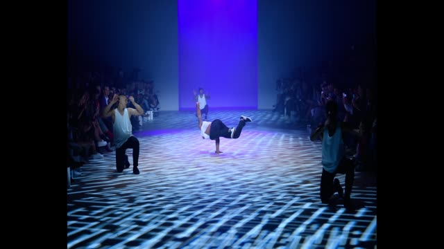 performers dance during the justin cassin show at mercedesbenz fashion week resort 19 collections at carriageworks on may 17 2018 in sydney australia - australian fashion week stock videos & royalty-free footage