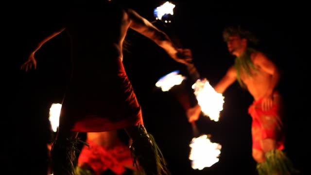 Performers Fire Dancing