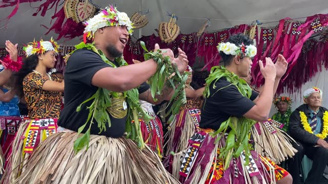 performers from the pacific island nations perform on stage at the pasifika festival at mt smart stadium on april 10, 2021 in auckland, new zealand.... - pacific islanders stock videos & royalty-free footage