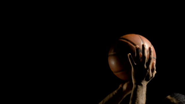 performing a free throw (super slow motion) - basketball ball stock videos & royalty-free footage
