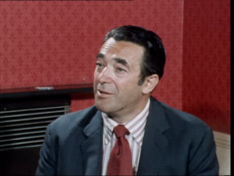 robert maxwell interview:; england: london: int robert maxwell interview sof: - denies allegations made by department of trade report - ピーター・シソンズ点の映像素材/bロール