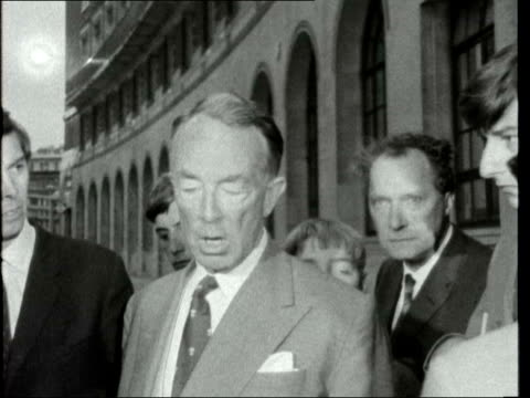 lord shawcross interview england london ext hartley shawcross interview sof robert maxwell mp along and briefly answers question sof - answering stock videos & royalty-free footage
