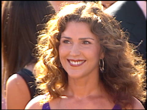 peri gilpin at the 2000 emmy awards at the shrine auditorium in los angeles, california on september 10, 2000. - shrine auditorium video stock e b–roll
