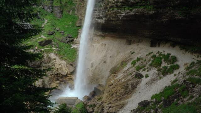 pericnik waterfall in triglav national park in slovenia - triglav national park stock videos and b-roll footage