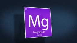 Periodic Table of Elements Cinematic Animated Series - Element Magnesium hovering in space