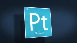 Periodic Table of Elements Cinematic Animated Series - Element Platinum hovering in space