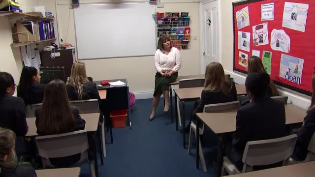 nottingham int gvs anonymous shots of year eleven girls in personal and social development class - sex education stock videos & royalty-free footage
