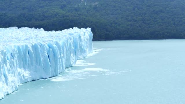 perito moreno glacier calving - collapsing stock videos & royalty-free footage