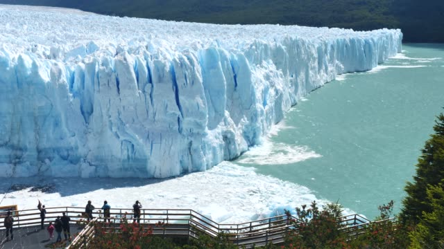 perito moreno glacier front calving - iceberg ice formation stock videos & royalty-free footage