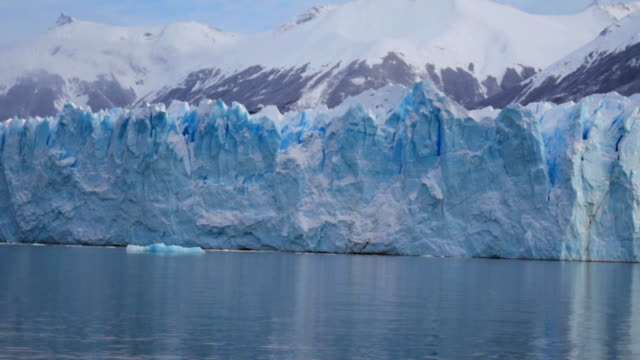 perito moreno glacier front view - argentina stock videos & royalty-free footage