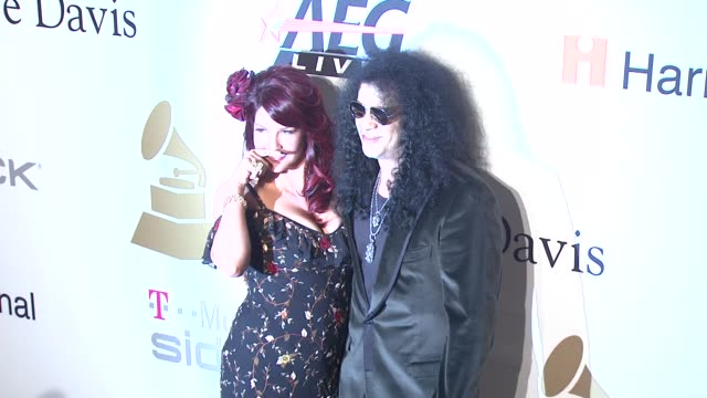 Perla Hudson Slash at the PreGRAMMY Gala Salute to Industry Icons with Clive Davis at Los Angeles CA
