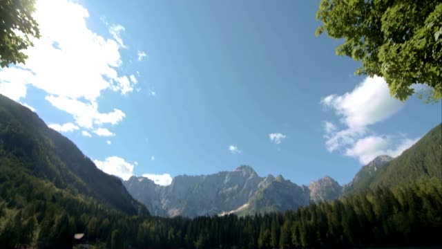 td permanent glacial lake below the julian alps - julian alps stock videos and b-roll footage