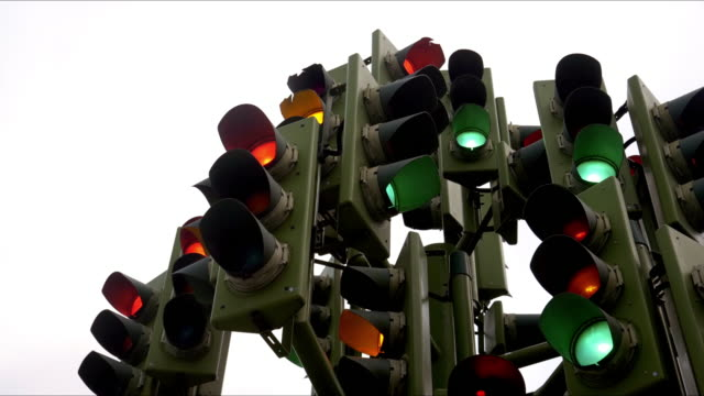 perplexing traffic lights - traffic light stock videos & royalty-free footage