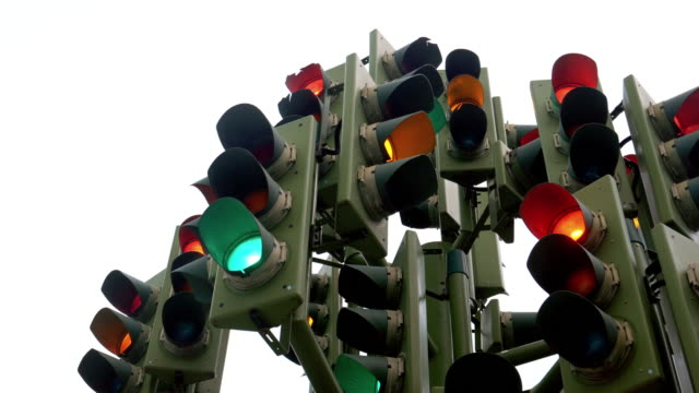 perplexing traffic lights - green light stock videos & royalty-free footage