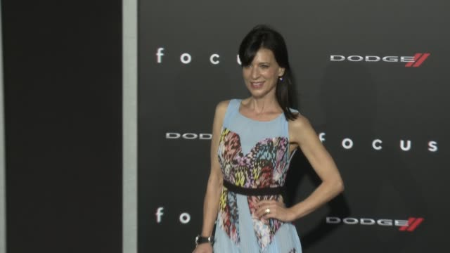 perrey reeves at the focus los angeles premiere at tcl chinese theatre on february 24 2015 in hollywood california - tcl chinese theatre stock videos & royalty-free footage